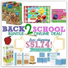 Back to school deal: bundle kit includes Organic Lunch snacks Cereal and even the usual teacher requested classroom donation item is included. Click the link in my bio @tomorrowsmom . What you get:. (2) TWO Organic Boxes of Cereal. 32 Organic Juice boxes. 18 Organic Snack Bars. 36 Organic Fruit Snacks. 200 Paper Lunch Bags. 12 Boxes of Eco Friendly Tissue Paper. . . All for only $51.74tx and FREE 1-3 day SHIPPING. . See full post for more details on how to Use the following Promo Codes to…