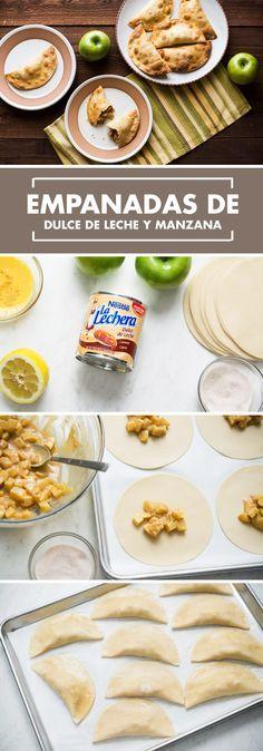 Este postre es perfecto para el otoño y compartir con tu familia: Dulce de Leche de La Lechera y manzanas crean la combinación perfecta. Estas Empanadas de Dulce de Leche y Manzana Fresca son muy fáciles de hacer y tu familia estará encantada con el sabor.