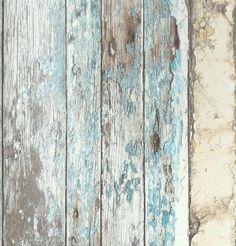 Neu! Vlies Tapete Antik Holz rustikal verwittert beige braun türkis blau in Heimwerker, Farben, Tapeten & Zubehör, Tapeten | eBay