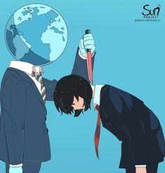 Dark Art Illustrations, Illustration Art, Sad Anime, Anime Art, Image Triste, Sun Projects, Vent Art, Arte Obscura, Sad Pictures