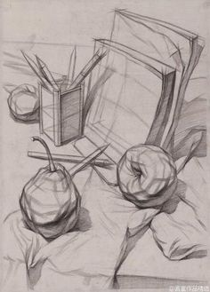 Contour Drawing still life Academic Drawing, Drawing Studies, Still Life Drawing, Still Life Art, Pencil Art Drawings, Art Drawings Sketches, Contour Drawing, Observational Drawing, Object Drawing