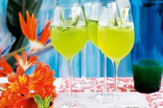 Dreaming of a holiday? Ease into island time with this cool, spritzy drink.