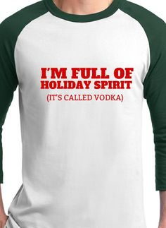 full of the holiday spirit christmas t shirt