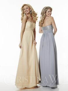 Christina Wu Celebrations 22615 Flat sequin bust with pleated Chiffon waistband Chiffon full length skirt. Chiffon & Sequin Bodice Color Availability: All Lace, Solid Seq Allure Wedding Gowns, Bridal Dresses, Bridesmaid Dresses, Bridesmaids, Prom Dresses, Christina Wu, Full Length Skirts, Bridal And Formal, Perfect Prom Dress