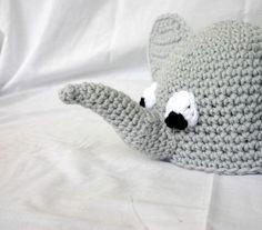 eef85b279bf Crocheted baby elephant beanie hat 3-6 month by lovinghandscrochet Elephant  Hat