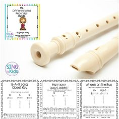 The Differentiated Recorder is an amazing resource for music teachers! Songs, fingering charts, worksheets, harmony parts, composition sheets - there is something for every child in your music room!