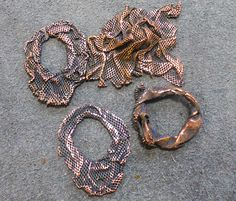 Copper plating - start with something very thin but with the strength of metal.