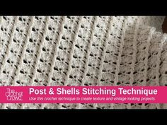 Learn how to crochet a post and shell crochet stitch combination. You can use this combination for any size project and in this tutorial you will learn how t...