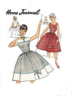 1960s Vintage Sewing Pattern Dress with Buttoned Details Australian Home Journal 9140 Size 16 Bust 36 UNUSED FF