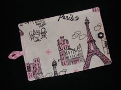 Eiffel Tower and Paris City Print in Pink by mycabbageroseshoppe, $10.50