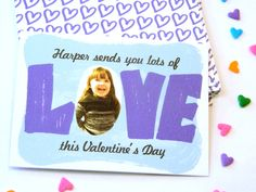Classroom Valentine Cards for Kids. #minted #classroom #valentine