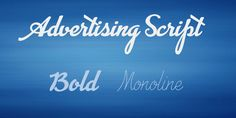 Advertising Script Font Family · 1001 Fonts
