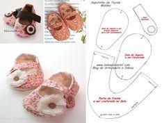 moldes sapatinhos de tecido - Pesquisa Google