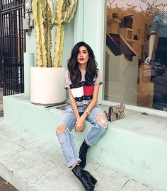 Shop the Look from Sazan Hendrix on ShopStyle I Love Fashion, Denim Fashion, Fashion Outfits, Fashion Trends, Fashion Inspiration, Women's Fashion, New Hair 2018, Sazan Hendrix, Casual Outfits