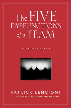 The Five Dysfunctions of a Team by Patrick Lencioni: I love all of Lencioni's books, but this one is my all-time favorite! Seriously, it is a great read if you lead or serve on a team. It's an easy book to execute, too. Best Books For Men, Good Books, Books To Read, Ya Books, Motivational Books, Inspirational Books, Reading Lists, Book Lists, Reading Skills