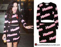 Buy Charli XCX's Moschino Crop Top and Skirt, here!