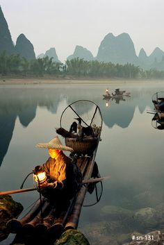 Travel photography  Chinese fishermen fishing by KingWuPhotography