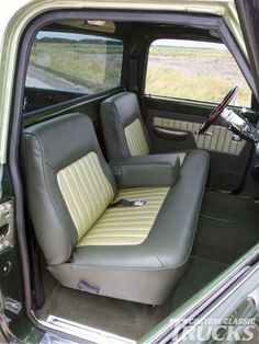Chevy truck interior