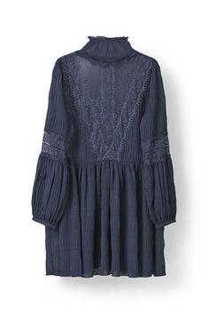 Hall Pleat Mini Dress, Total Eclipse
