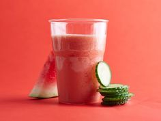 This uber-refreshing Watermelon-and-Cucumber Smoothie is loaded with vitamin C. Keep chunks of watermelon in your freezer all summer long so you can blend this up anytime.