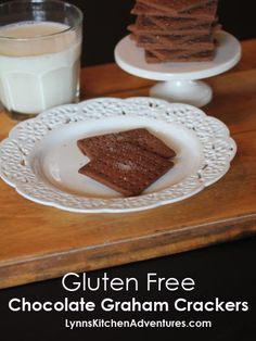 Gluten Free Chocolate Graham Crackers