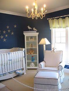 Nautical Nursery Theme, Nautical Nursery Bedding, Nautical Styled  Kate, look at the starfish on the wall!