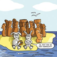 Ja wat had je dan verwacht? #cartoon #Pasen -Evert Kwok