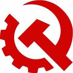 Логотип Коммунистической партии США которая была запрещена в 1954г.