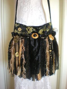 Asian / Oriental Inspired Gypsy Fringe Purse   by Pursuation, $65.00