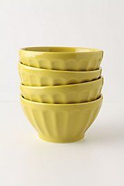 Latte Bowls from Anthropologie.  F A V O R I T E . ( I have them in grey but I think I might need these yellow ones also.)