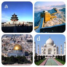 Asia no se caracteríza por el deporte como Europa sino por sus monumentos como la Gran Muralla China o el Tag-Mahal