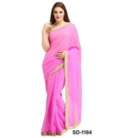 Silons Designer Pink Saree - Online Shopping Marketplace Shopdrill.com