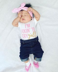 I'm Fixin To Cry Y'all | Baby Girl Clothing by Cassidy's Closet