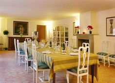 Dining arrangements of the villa
