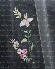 Wedding Veil, Embroidery, Flowers, Needlepoint, Royal Icing Flowers, Flower, Florals, Floral, Crewel Embroidery