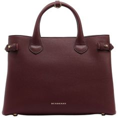 Burberry Women Medium Banner Leather & House Check Bag ($1,745) ❤ liked on Polyvore featuring bags, handbags, shoulder bags, dark red, genuine leather shoulder bag, leather purses, red leather purse, shoulder strap bags and red leather shoulder bag