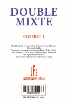 Editions Jacques Flament - Double mixte. Retrouvez ma nouvelle : Plaf !