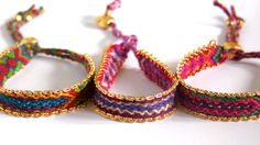 aztec drawstring friendship bracelet by apatchy | notonthehighstreet.com