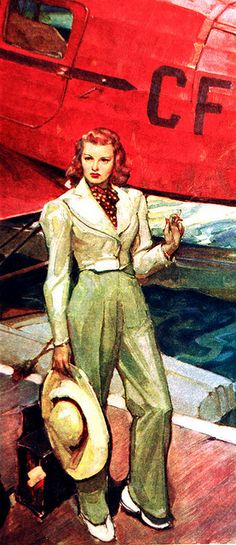 Vintage Illustration - Lee Sutton, via Flickr - Fabulous outfit.