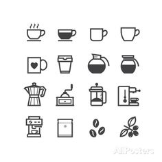 Coffee Icons Art by pking4th at AllPosters.com