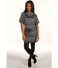 Calvin Klein Jeans S/S Fluffy Cotton Cowl Neck Dress