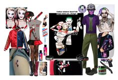 """""""Easy Cosplay - Harl and Mista J"""" by verysmallgoddess ❤ liked on Polyvore featuring Any Old Iron, Icebreaker, Timberland Boot Company, Harley-Davidson and Manic Panic NYC"""