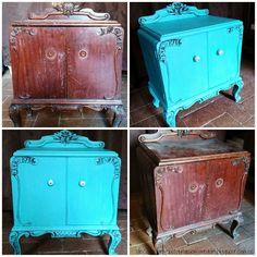Recuperación de muebles: mesita antes y después   Bricolaje                                                                                                                                                                                 Más