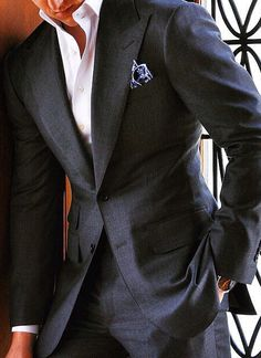 Charles Dean handcrafted two-piece suit. menswear, men's fashion and style