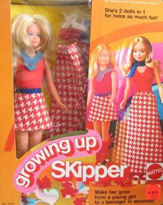 Skipper that grew!  had her! Kind of creepy tho... You turned her arm around at the shoulder and her boobs grew. That's what transformed her from little kid to teenager.