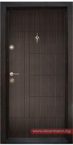 Блиндирана входна врата - Код T587, Цвят Абанос