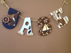 Nautical theme letters for baby boy nursery