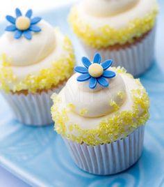 Cupcake with yellow sugar
