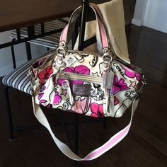 Authentic Coach Poppy purse Never used with tags!! Comes with Coach dust bag. No stains. Coach Bags Shoulder Bags