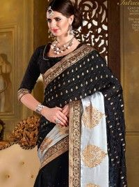 http://www.sareesaga.in/sarees/cute-satin-black-designer-saree-17433  Style	:	Designer Saree	 Shipping Time	:	10 to 12 Days Occasion	:	Party Festival	 Fabric	:	Satin Georgette Colour	:	Black	 Work	:	Patch Border Work Zari Work   For Inquiry Or Any Query Related To Product,  Contact :- +91 9825192886
